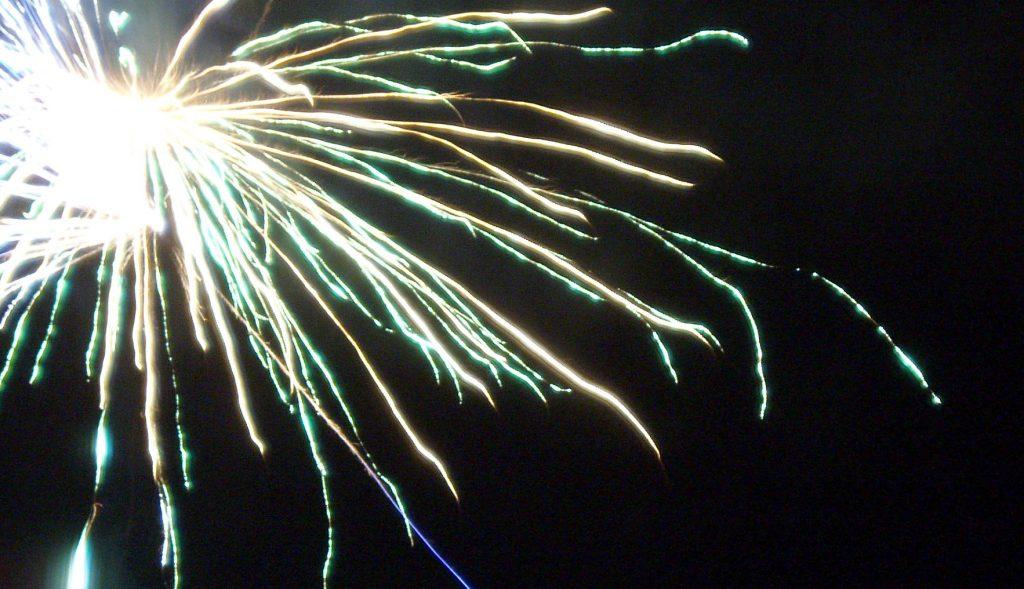 celebrate new year fireworks