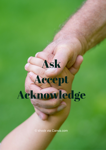 asking for help Ask, accept, acknowledge