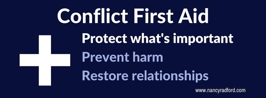 Protect what is important Conflict First Aid