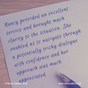 Recommendation for Nancy workplace mediation