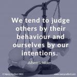 reduce misunderstanding, judge behaviour, intentions