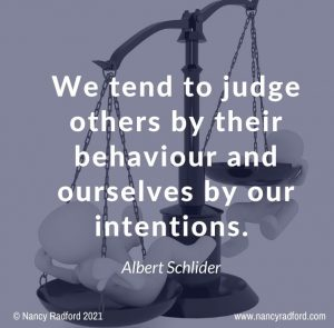 reduce misunderstanding, judge behaviour, intentions